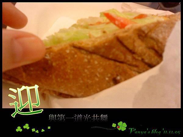 高雄漢神百貨BF3東森咖啡-小汪點的健康雜糧三明治,穀麥雜糧麵包