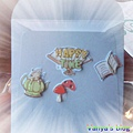 2011年毛毛送的生日卡片及禮物-卡片背面