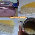 高雄金礦四維店的歐式起士蛋糕,與新堀江站的熱拿鐵
