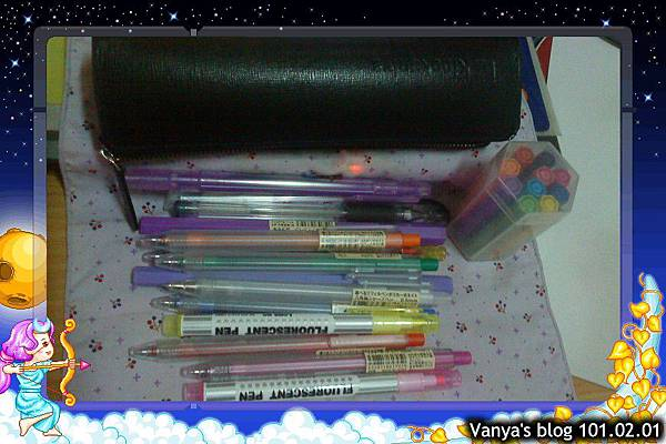 筆袋中的愛用筆,以無印良品六角筆為主