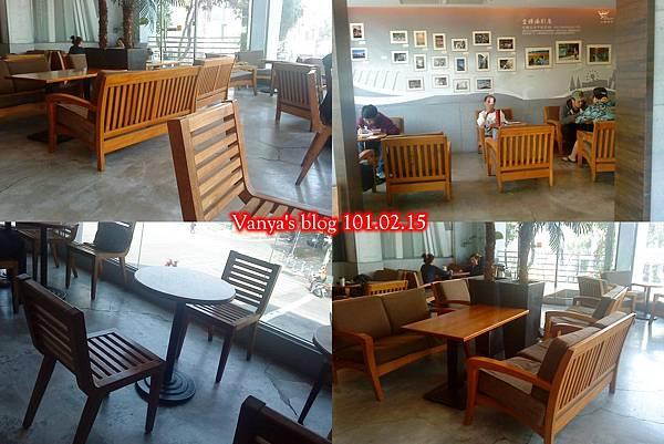 金礦咖啡四維店-2F 木質座位設計