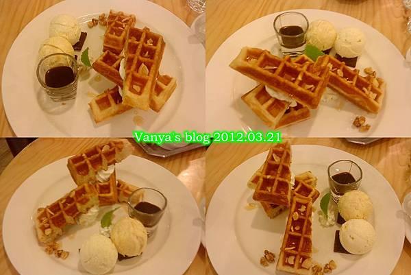 高雄夢時代之莫凡彼咖啡館-蜂蜜維尼丹麥千層鬆餅,四連拍