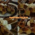 高雄雅裴詩咖啡-巧克力鬆餅四連拍