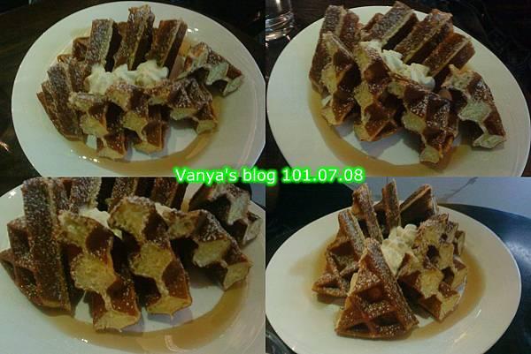 高雄雅裴詩咖啡-女王妹點的楓糖鬆餅
