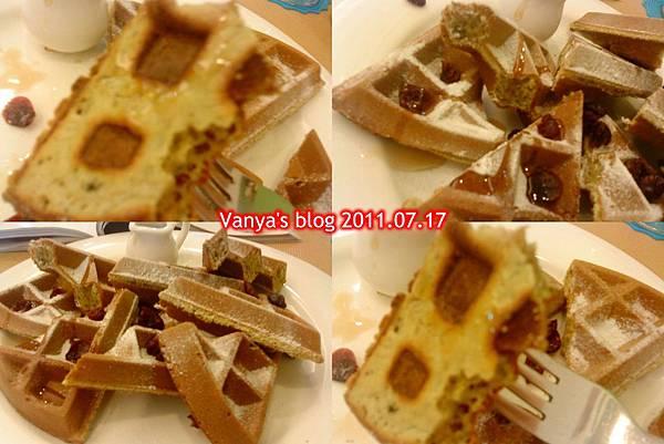 珈琲舍道-抹茶鬆餅,好吃~~