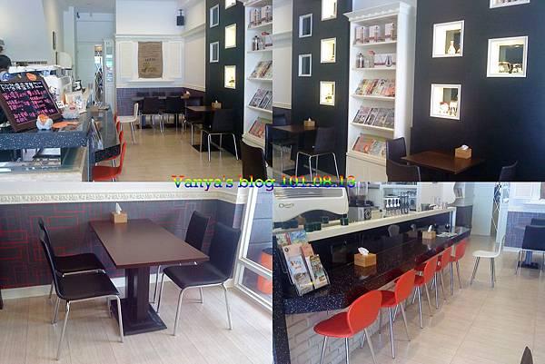 高雄Tribbiani cafe'-座位及書架區等等