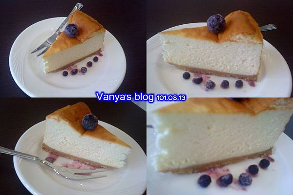 高雄Tribbiani cafe'-下午茶的起司蛋糕,好吃!