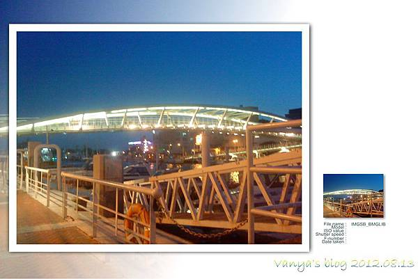 晚間19點的鼓山輪渡站-魚骨橋夜拍照