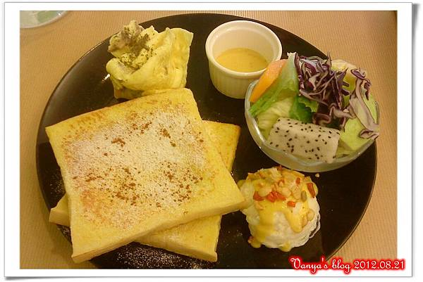 珈琲舍道-早餐之法國吐司磨菇蛋餐
