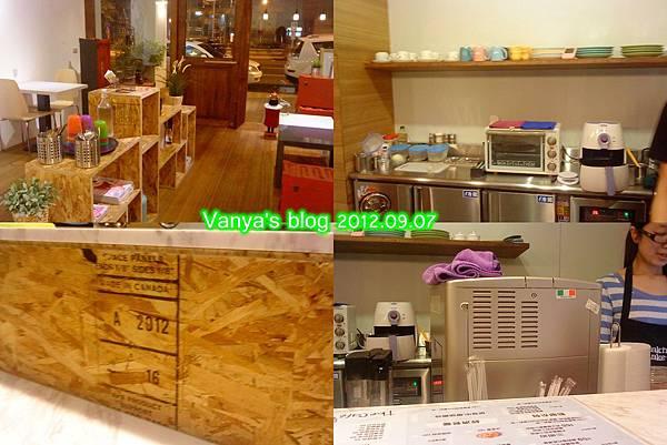 哈瑪星The cafe'-吧台與製作食材區域