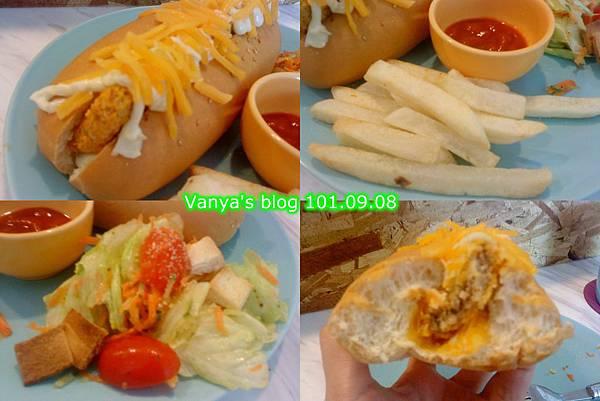 高雄The cafe'-香酥鮪魚潛艇堡套餐,有沙拉、薯條等