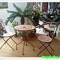 The cafe'-新的馬賽克桌椅