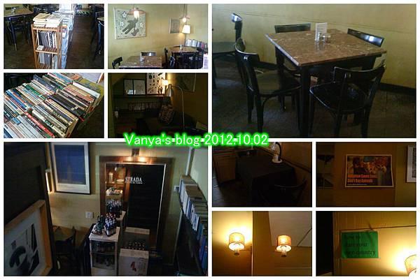 高雄步道咖啡-較昏暗的2F內側及木質桌椅等