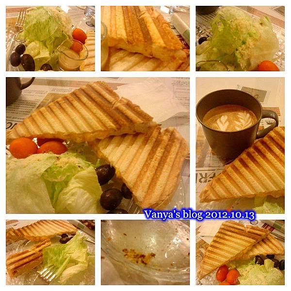 咖啡林咖啡-義式帕尼尼三明治,飽足!!