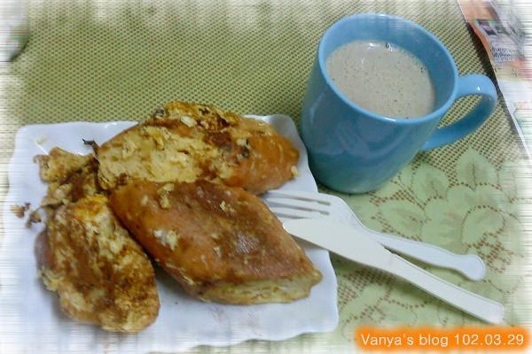 完成法式早餐~~