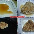 烤飯糰-兩面沾上醬油,微煎