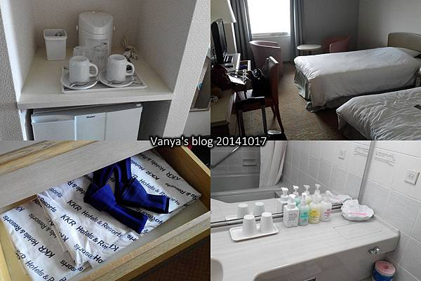 機加酒-KKR hotel osaka 雙人房兩張單人床