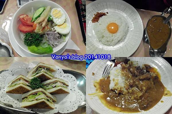 Day2-3道頓堀-妹的咖哩飯、蔬菜沙拉與穎的三明治