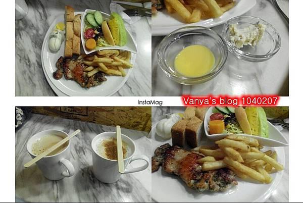 濰克早午餐西子灣店-4號主題嫩雞套餐及熱拿鐵、卡布等