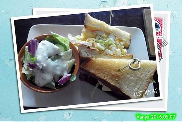 睦工場-丹麥蛋三明治、沙拉