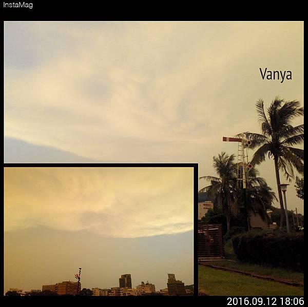 莫蘭蒂颱風登入前一天