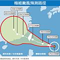 梅姬颱風動向意勢圖
