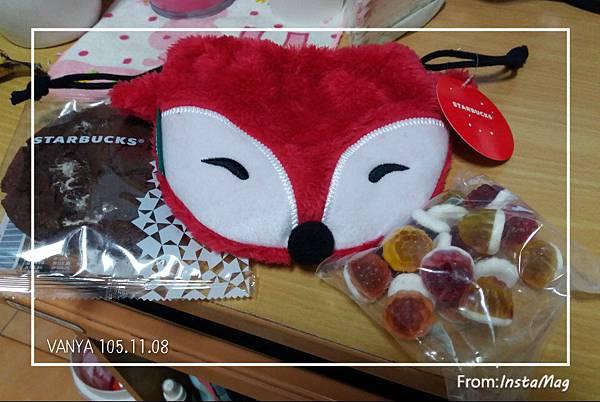 星巴克-狐狸束口袋,質感很好,軟糖還好...