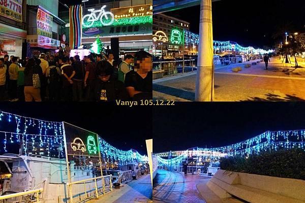 2016聖誕燈會在哈瑪星-岸邊的燈