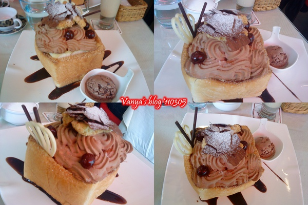 高雄左飲右食-雅慕法式甜點,穎點的慕尼黑森林口味之蜜糖土司,GOOD!