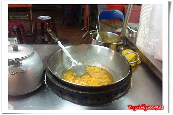 用來煮沸月見糖的大鍋子