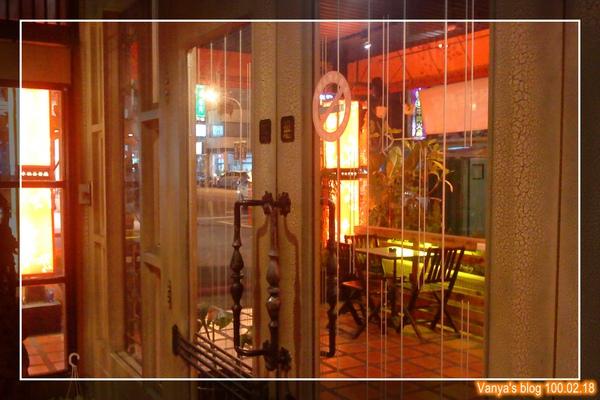 高雄幸福茶餐廳-晚間的門口