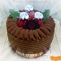 991128 哞哞給的生日禮--提拉米蘇冰淇淋蛋糕,好吃到不行