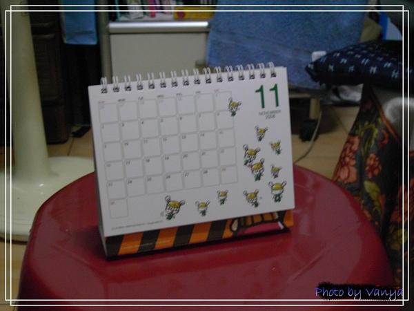 穎的桌曆11月份