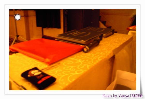 獎品領取處及預備桌