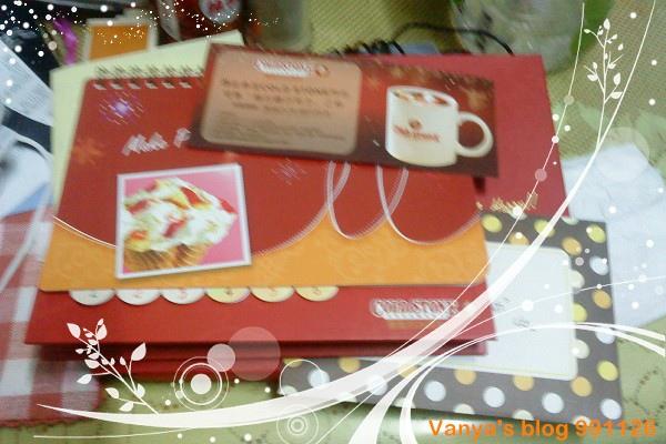 991128 哞哞給的生日禮,卡片與桌曆等等