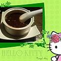 """""""聚""""之穎的蔬食套餐鍋,甜品為熱精燉桂花赤豆饌"""