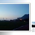 太陽西下,傍晚的西子灣天空