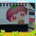 咖啡林咖啡0409-店內伙伴自己設計的小桌曆,每張有不同插畫