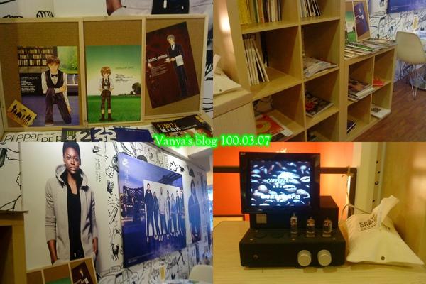 高雄咖啡林- 2F 書櫃和牆面設計等