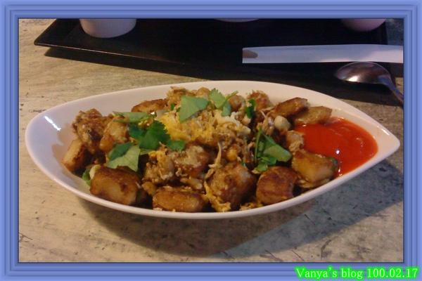 高雄幸福茶餐廳-星洲炒菜豆粿和甜辣特調配醬