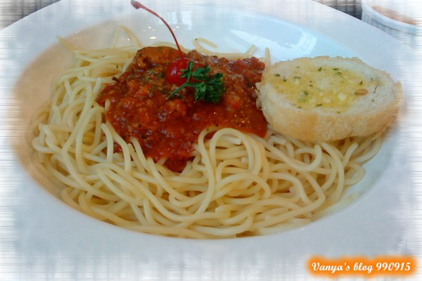 三皇三家文化店-穎點的茄汁肉醬義大利麵