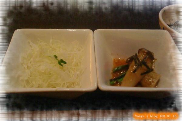 高雄中山品田牧場-餐前小菜之和風杏鮑菇、高麗菜絲