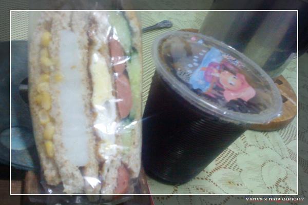 990907 的早午餐,老媽牌的全麥三明治