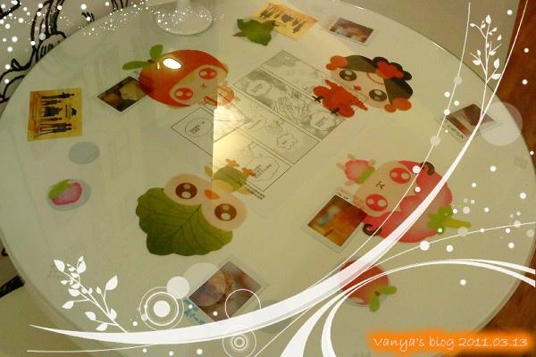 高雄咖啡林咖啡-可愛的桌面