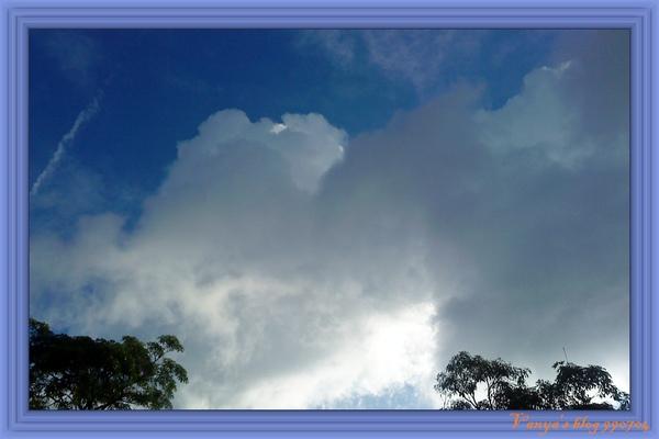 早上六點多穎家附近的天空