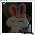 友人送的兔子錢包