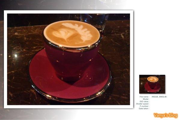 雅詩斐咖啡之熱卡布奇諾,被請客了!