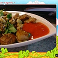 高雄幸福茶餐廳-星洲炒菜豆粿近照,好吃的甜辣特調配醬