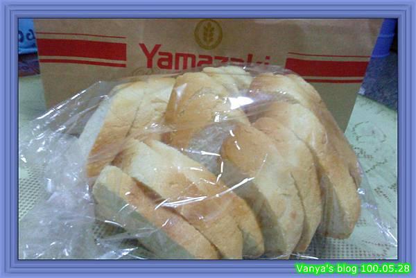 高雄大立百貨之山崎麵包-法國麵包切片