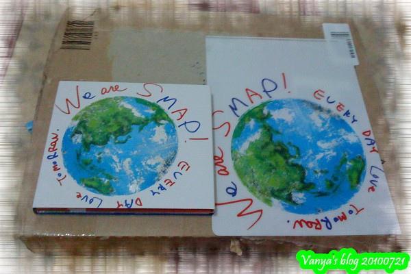 20100721日本發行SMAP新專輯,附贈文件夾一枚!